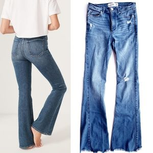 Abercrombie & Fitch High Rise Skinny Flare Jeans